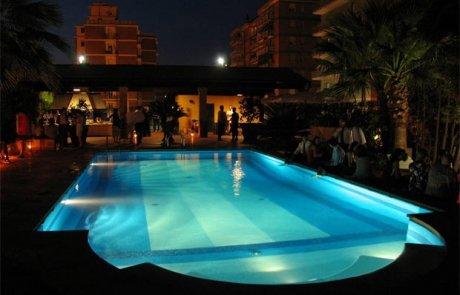 illuminazione a led esterni - piscina