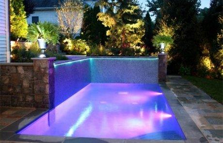 illuminazione a led per esterni - piscina